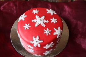 Snow Flakes Cake